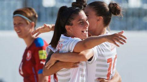 Fresneda juega la final europea de fútbol playa con la Selección