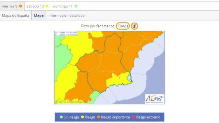 Salud advierte de los riesgos de las altas temperaturas
