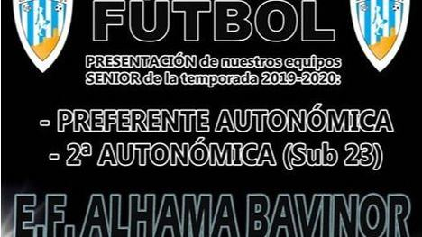 E.F. Alhama presenta a sus equipos el sábado 24 en el 'José Kubala'