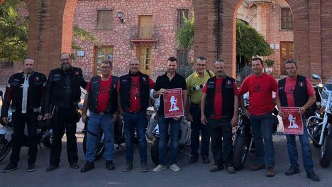 Miembros de Moto Club Custom de Alhama parten en peregrinación