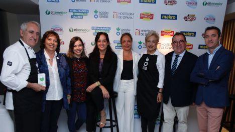 La directora de Relaciones Institucionales de Grupo Fuertes, Mar Fuertes, en el acto de presentación de la campaña 'Restaurantes contra el Hambre'.