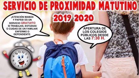 Educación pone en marcha el Servicio de Proximidad Matutino