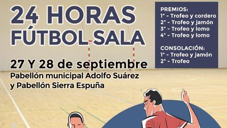 Alhama organiza el 24 Horas de Fútbol Sala el 27 y 28 de septiembre