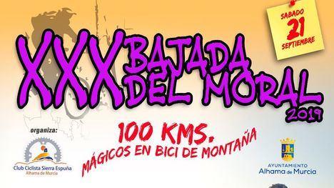 Un centenar de ciclistas participa en la XXX Bajada del Moral