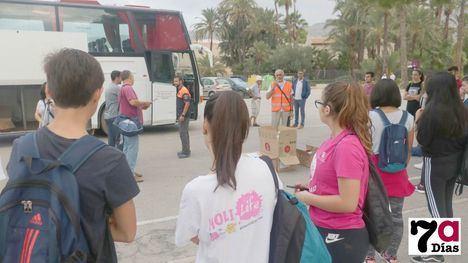 VÍD./FOT. Alumnos del Valle de Leiva, a Los Alcázares