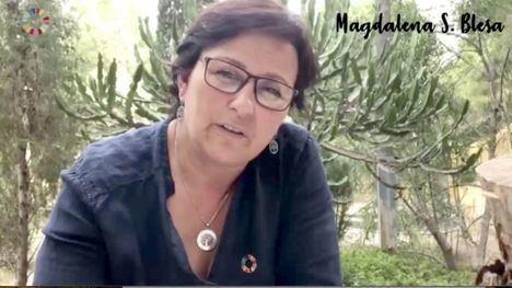 VÍDEO Poema por el clima de la diputada y escritora Sánchez Blesa