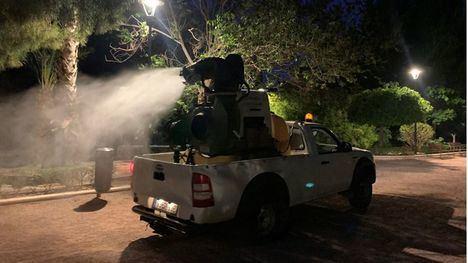 FOTOS Fumigación de madrugada contra el mosquito tigre