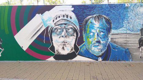 FOTOS Murfy 'decora' el Jardín de Cervantes con su Don Quijote y Sancho