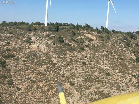 Imagen tomada desde el helicóptero de la DGSCE con base en Alcantarilla