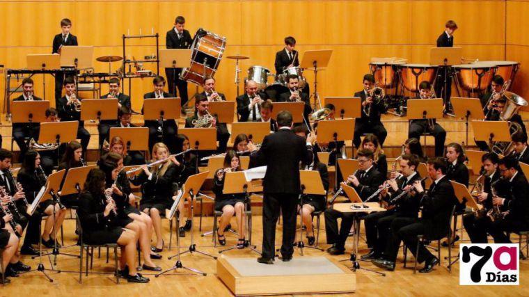 Imagen de la actuación de la Banda Titular el pasado enero en el Auditorio Víctor Villegas a donde volverá el próximo enero de 2020, esta vez, bajo la batuta de Raúl López.