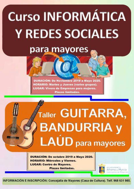 Nuevos cursos para Mayores de música y redes sociales