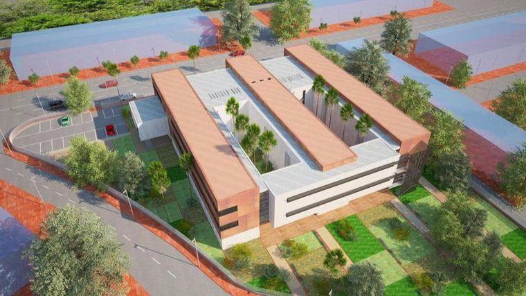 Imagen del nuevo IES Valle de Leiva que se construirá en la zona del Praíco.
