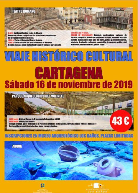 Cultura organiza una visita con guía a Cartagena este sábado