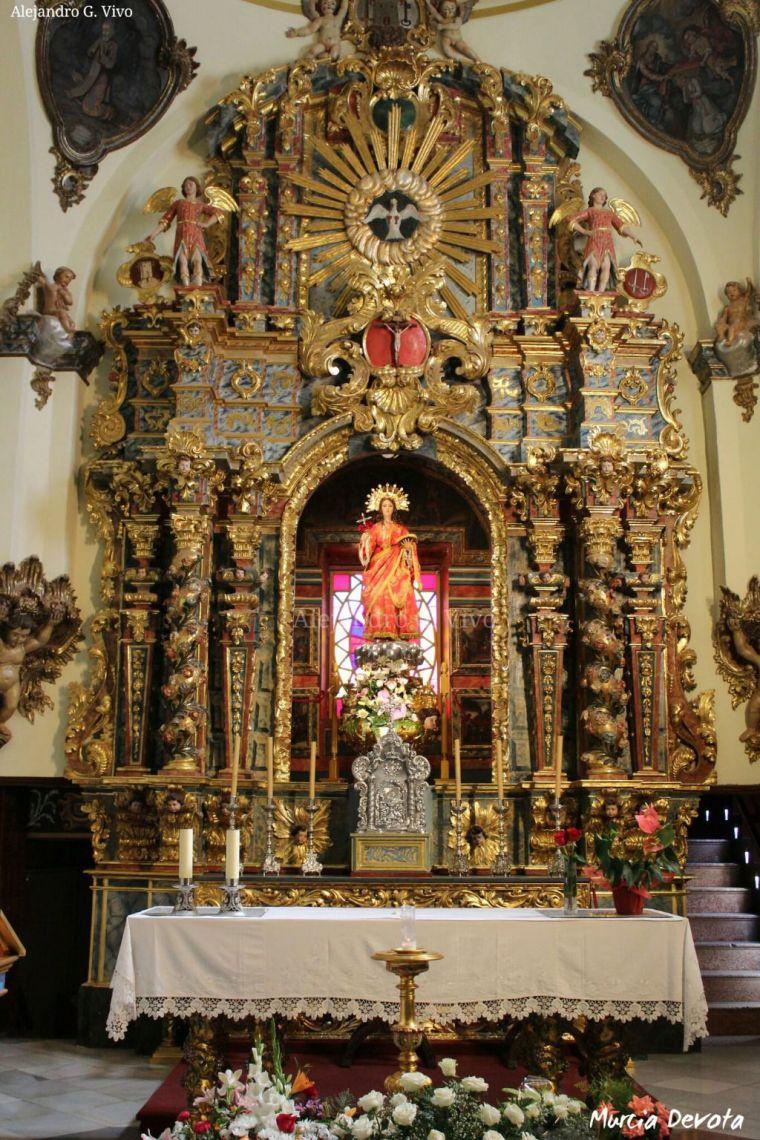 Santa Eulalia, imagen de portada del nº 2 de Murcia Devota