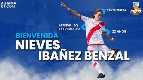 El Alhama CF ElPozo ficha a Nieves Ibáñez para la banda izquierda