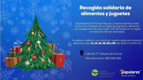 NNGG y PP de Alhama organizan una recogida solidaria de juguetes