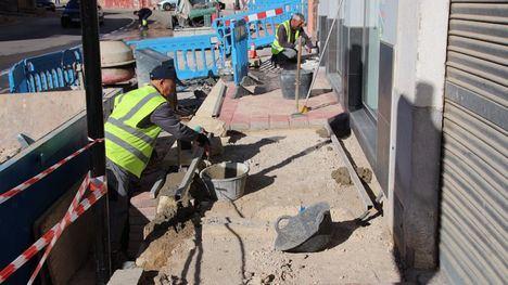 Obras en la Rambla Don Diego para mejorar su accesibilidad
