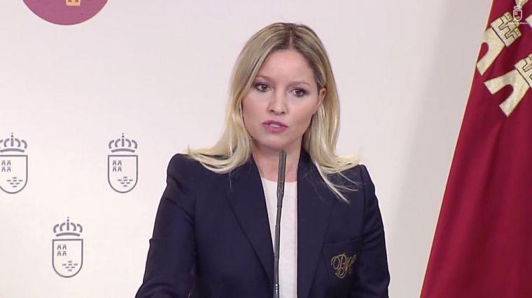 La consejera de Empresa, Industria y Portavocía, Ana Martínez Vidal, en la rueda de prensa posterior al Consejo de Gobierno.