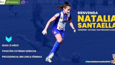 El Alhama CF ElPozo ficha a la gaditana Natalia Santaella
