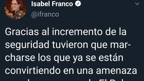 Isabel Franco pedirá a Guevara medidas de seguridad en el Ral