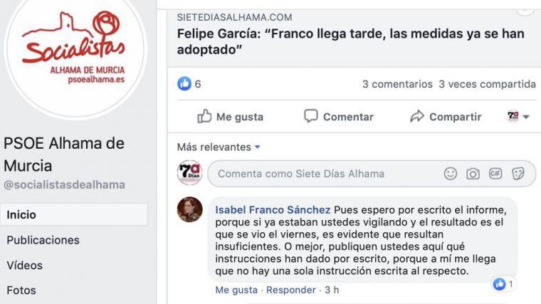 Franco pide al PSOE que publique medidas de seguridad de los menas
