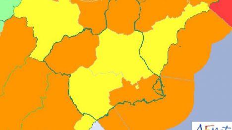 Aviso amarillo por nieve y naranja por fuertes vientos en la Región