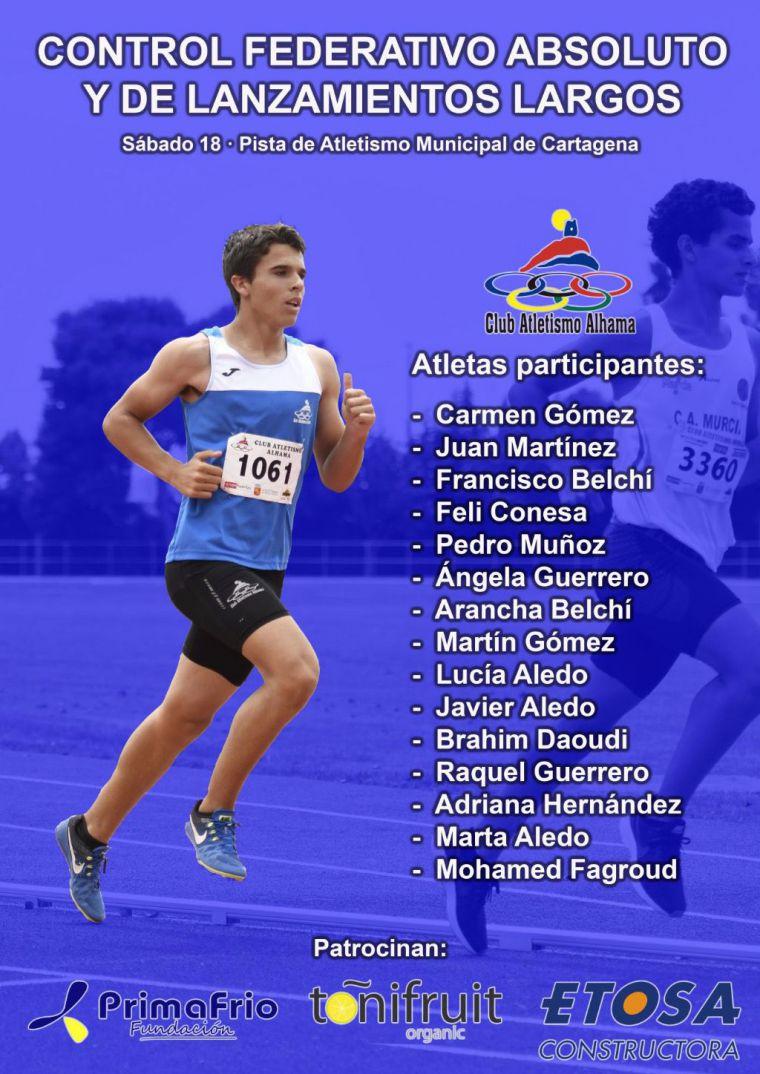 Este fin de semana nuestros atletas viajan Cartagena y Alguazas