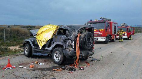 Fallece al salirse su coche de la autovía de Alhama a Cartagena