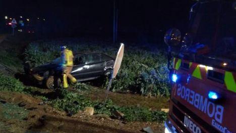 Dos heridos en Totana en un accidente antes de la incorporación a A7