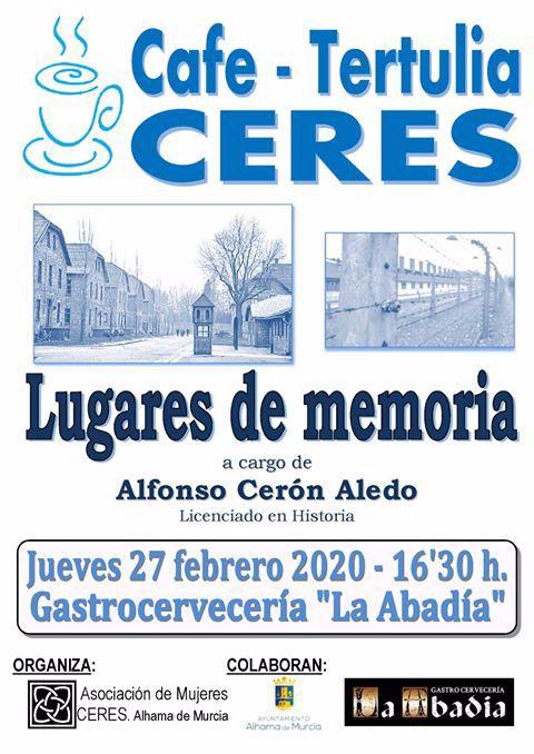 Vuelven los café-tertulias de Ceres con Alfonso Cerón