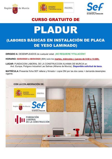 La Fundación Laboral organiza un curso de montaje de pladur