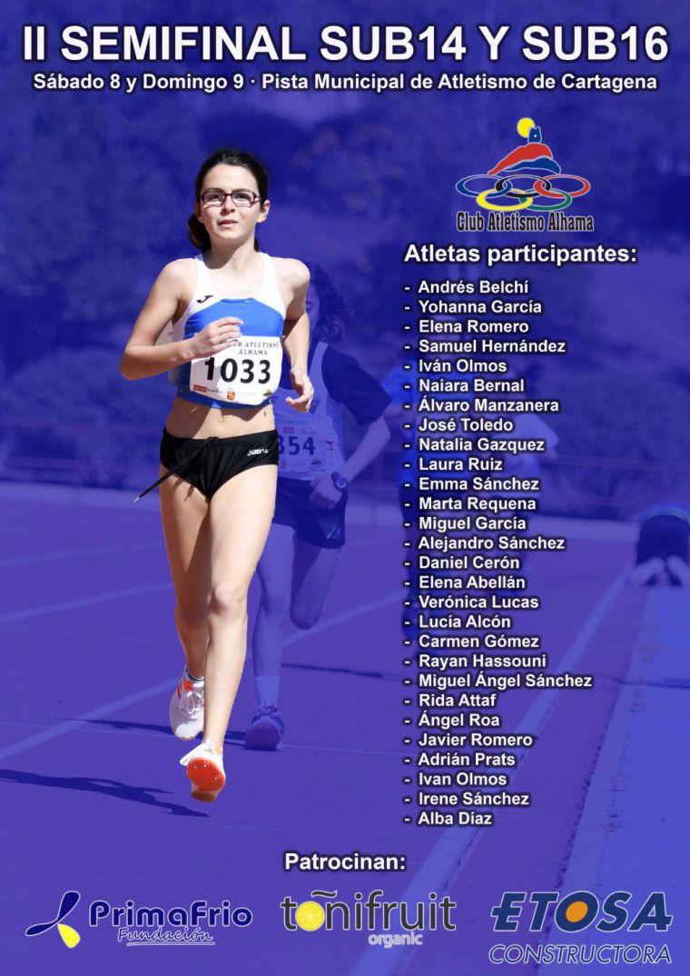 28 atletas alhameños compiten en la II Semifinal Sub14-Sub16