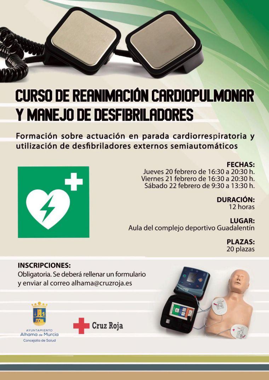 Curso de reanimación cardiopulmonar y uso de los desfibriladores