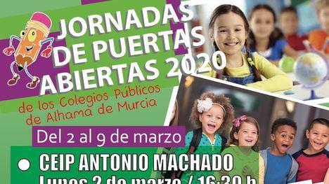 Jornadas de puertas abiertas en los colegios, del 2 al 9 de marzo