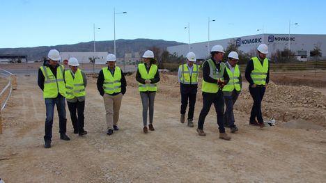 Avanzan las obras de urbanización del Parque Industrial de Alhama