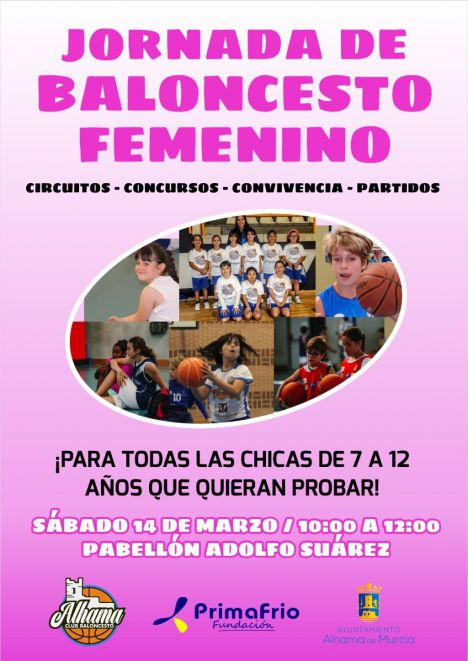 El Club Baloncesto Alhama se suma al Día de la Mujer