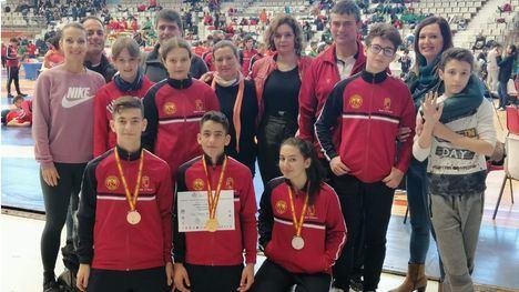FOT. Oro, plata y bronce para judocas de Alhama en el Cpto. de España