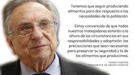 Mensaje de Tomás Fuertes, Presidente de Grupo Fuertes