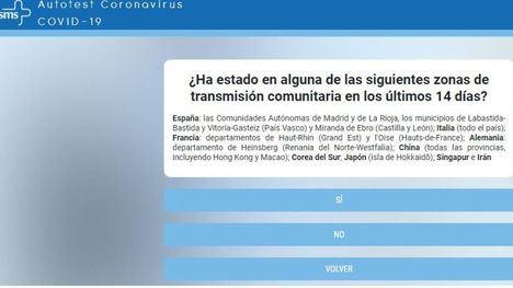 Un autotest en Internet para resolver dudas sobre el coronavirus