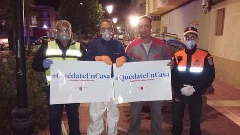 VÍDEO/FOTOS Librilla desinfecta todas las calles del municipio