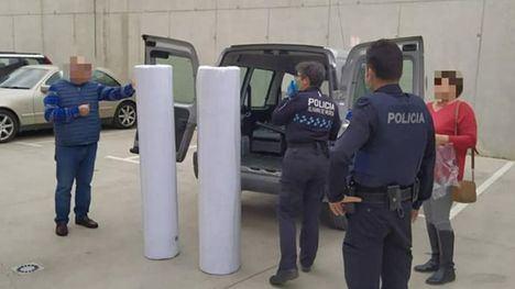 La Policía Local recibe material para hacer 14.000 mascarillas