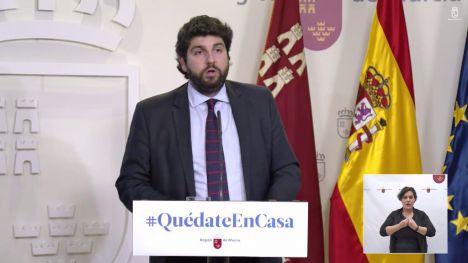 López Miras pide el cese de la actividad no esencial en la Región