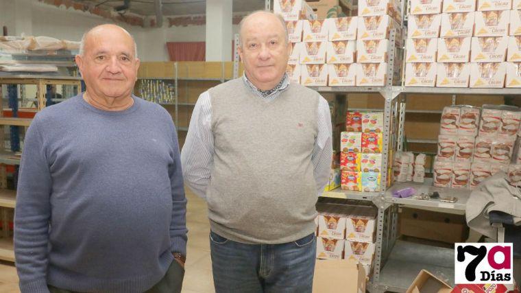 Pablo Ballesta  y Juan José Ballesta, vicepresidente y presidente del Banco de Alimentos en Alhama