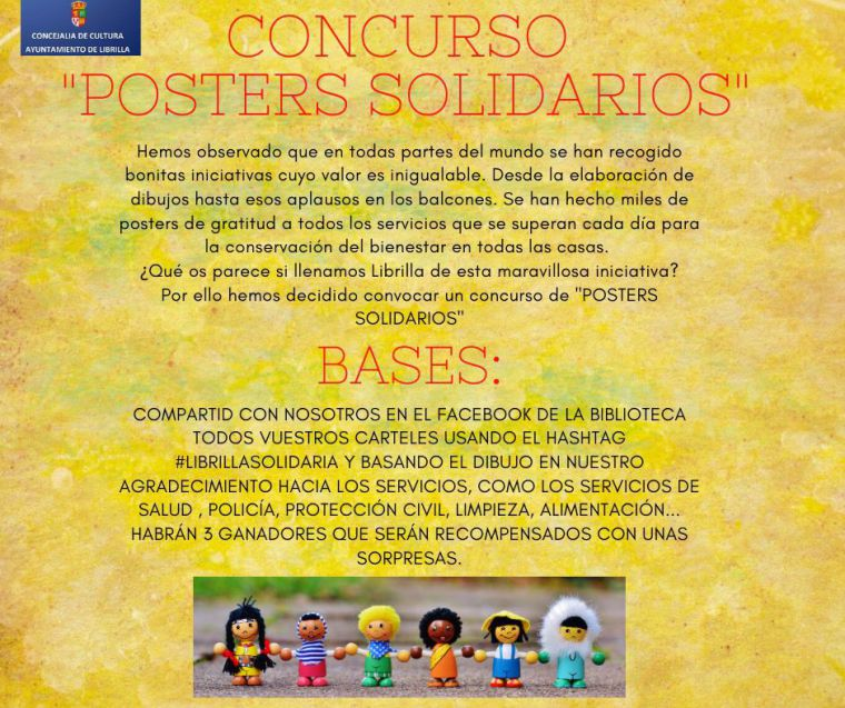 La Biblioteca de Librilla organiza un concurso de pósters solidarios