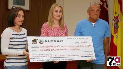 Alhama recauda 1.000 euros para la lucha contra el cáncer infantil