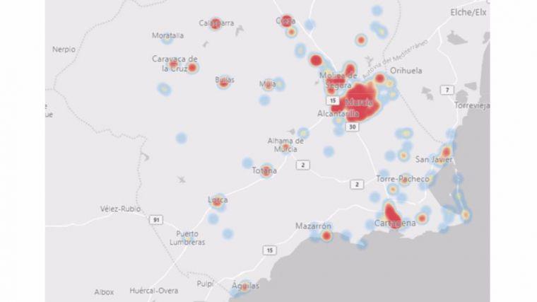 Los casos positivos de Covid19 se mantienen en 10 en Alhama