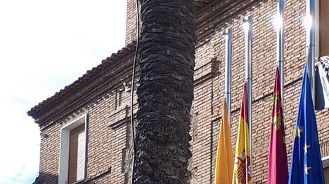 Las banderas de Librilla, a media asta por las víctimas del Covid19
