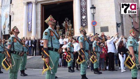 VÍD. La visita desde el corazón de La Legión a su Virgen de los Dolores