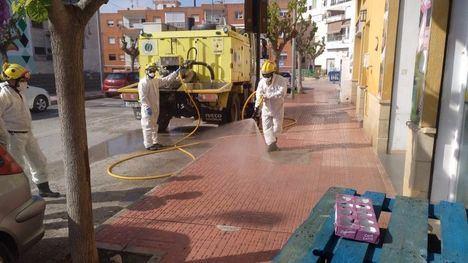 V/F La BRIFOR colabora en la desinfección de calles en Alhama