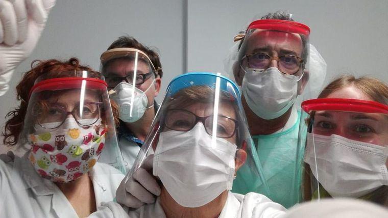 Personal sanitario del Centro de Salud de Lorca